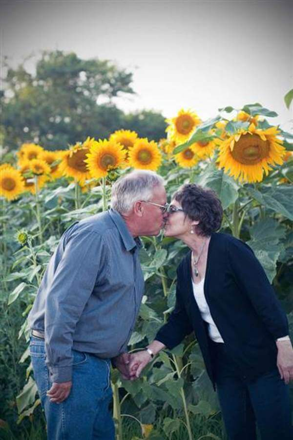 husband plants flowers for wife 5