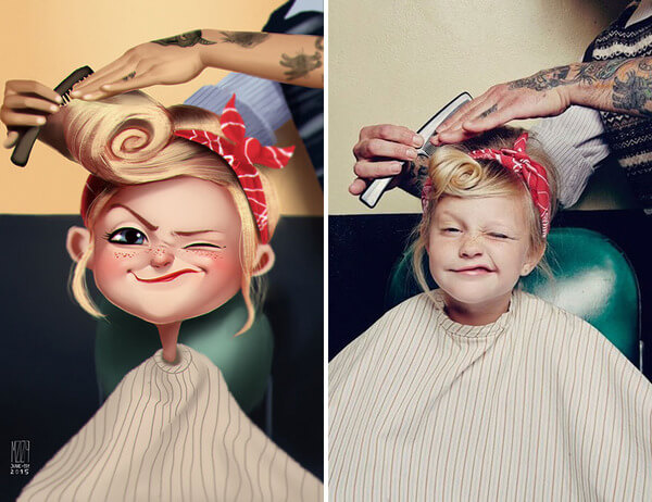 artist turns photos into fun illustrations 1
