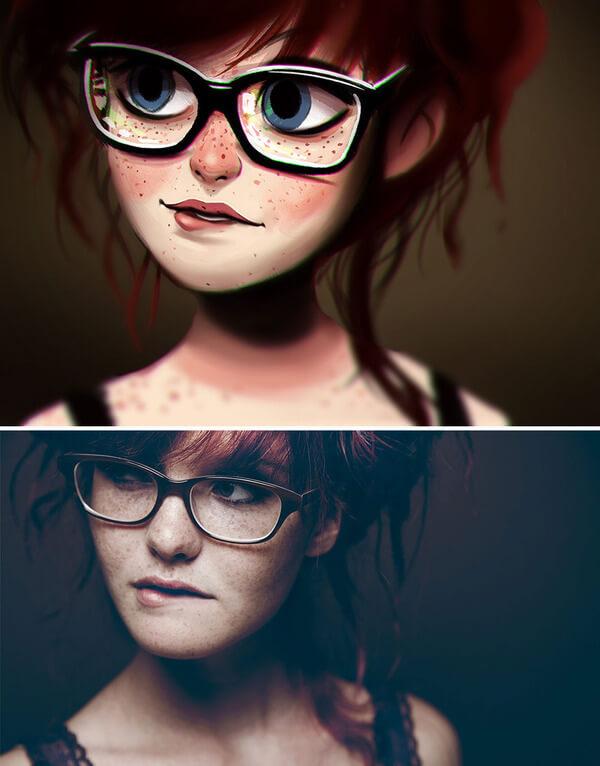 artist turns photos into fun illustrations 4