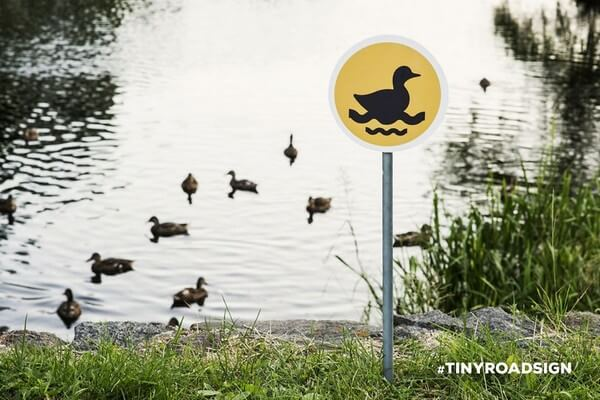 tiny road signs for animals 7