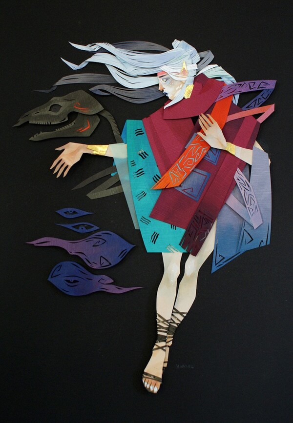 Morgana Wallace Mythical Cut Paper Collages 2