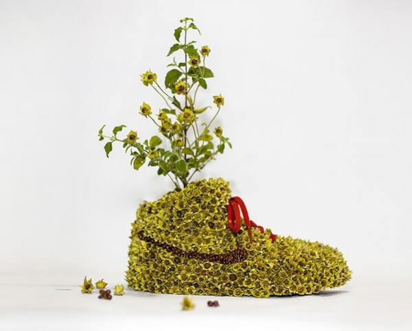 sneakers turned into blossoming gardens 24