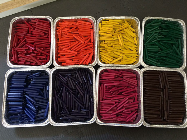 recycling crayons for kids 6