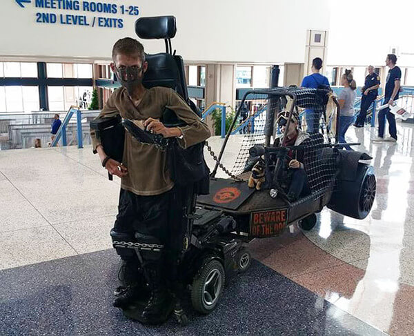 epic mad max cosplay with wheelchair 4