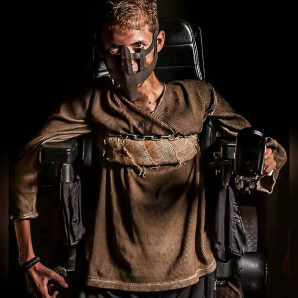 epic mad max cosplay with wheelchair 6