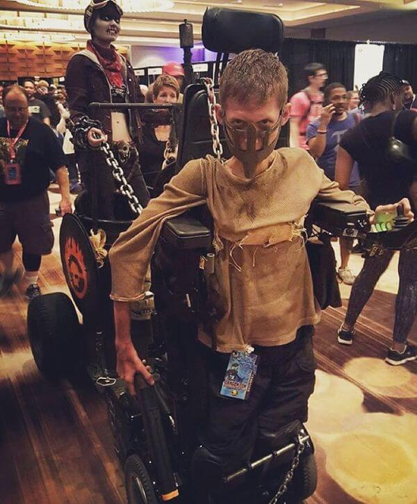 epic mad max cosplay with wheelchair 1