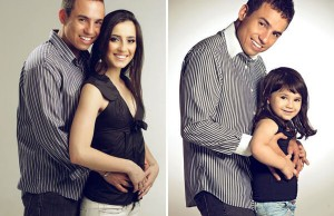 wife's recreated photos with daughter 2