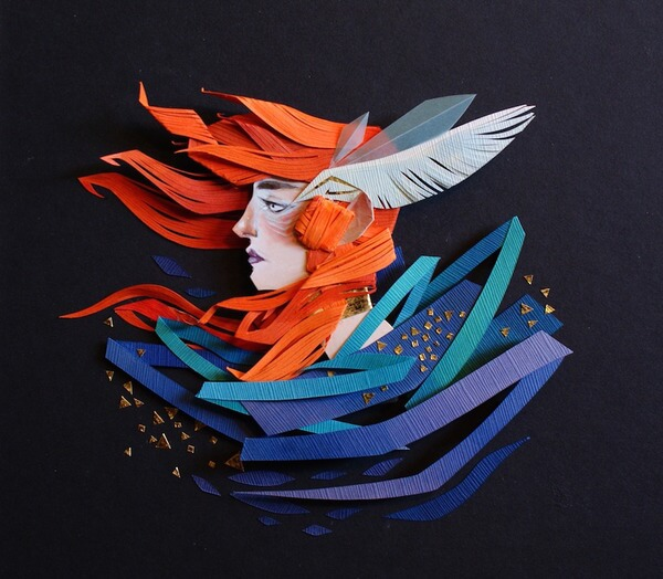 Morgana Wallace Mythical Cut Paper Collages 8