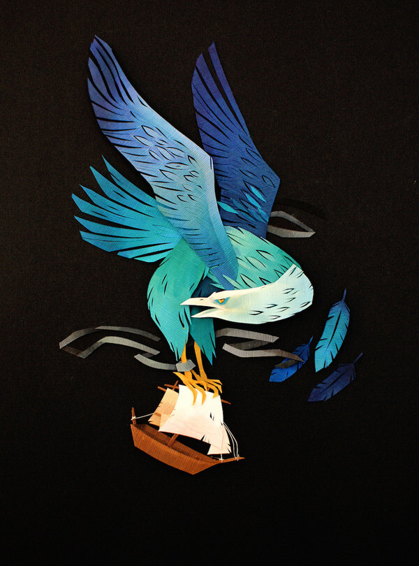 Morgana Wallace Mythical Cut Paper Collages 5