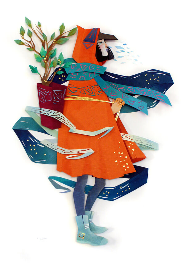 Morgana Wallace Mythical Cut Paper Collages 1