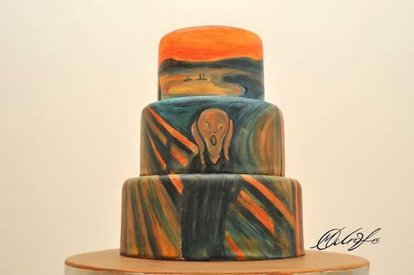 famous paintings on cakes 5