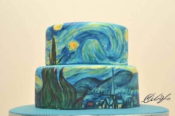 famous paintings on cakes 4