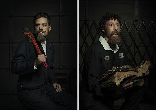 Renaissance Paintings Are Hilariously Re Imagined By Auto Mechanics - Mechanics hilariously recreate renaissance paintings