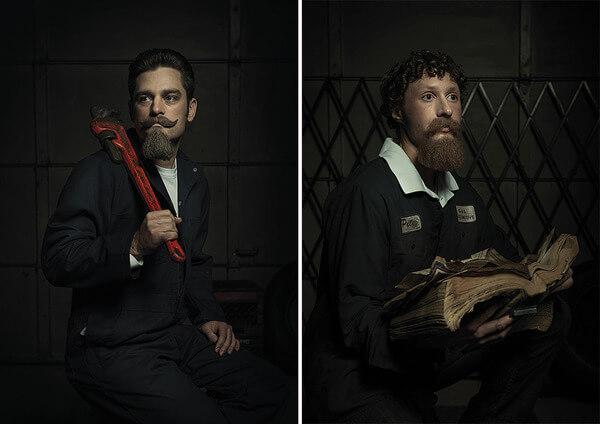 mechanic people recreate famous paintings 4