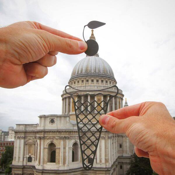 transforms landmarks to paper cuts 8