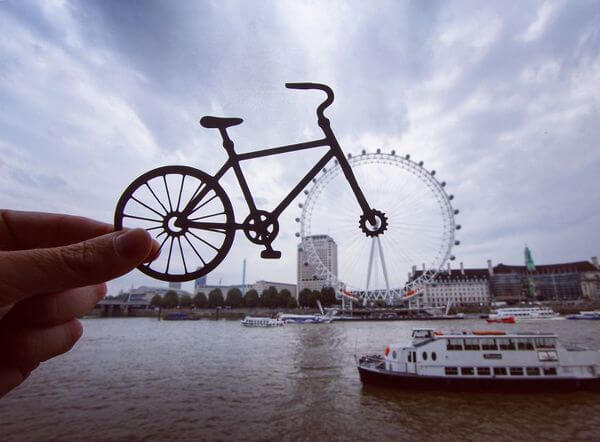 transforms landmarks to paper cuts 2