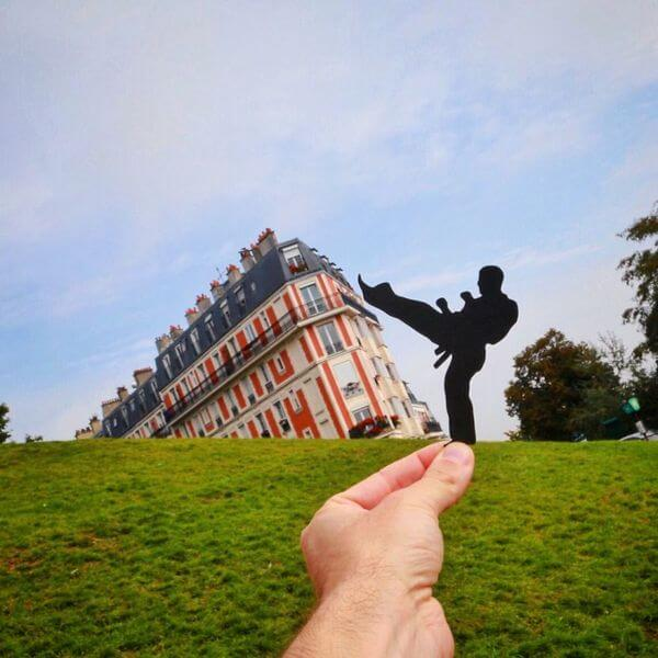 transforms landmarks to paper cuts 10