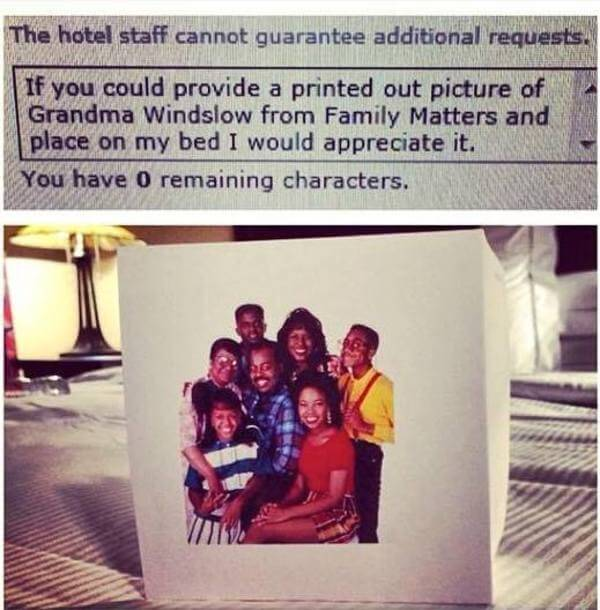 hilarious hotel requests 4