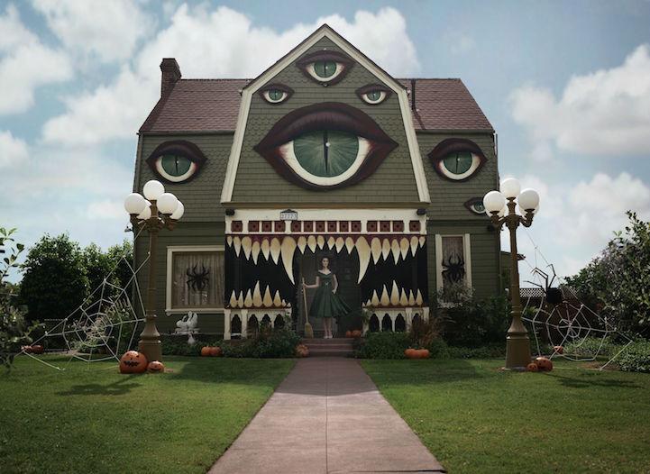 Monster halloween house