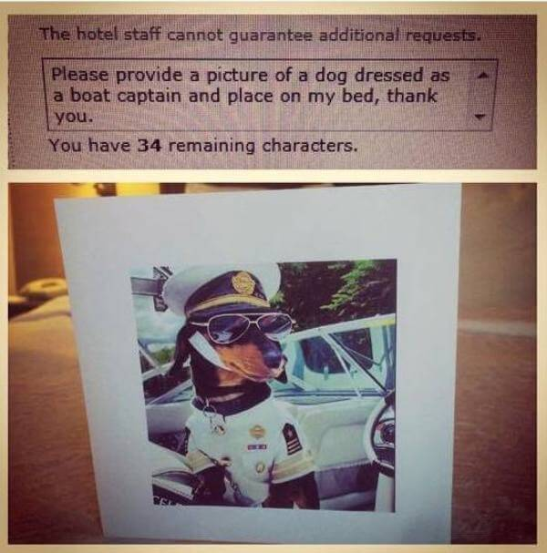 hilarious hotel requests 2