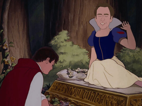 NICOLAS CAGE AS DISNEY PRINCESSES 6