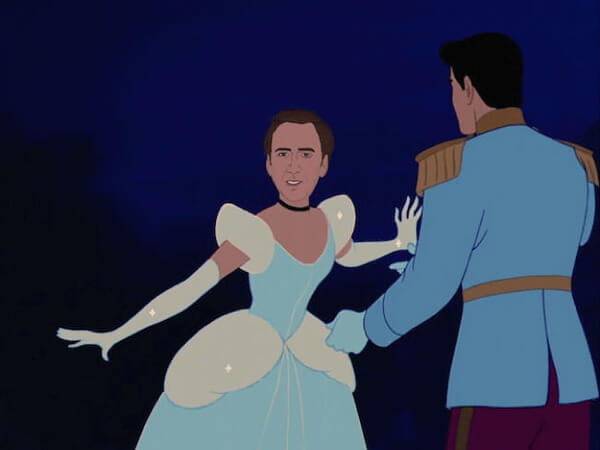 NICOLAS CAGE AS DISNEY PRINCESSES 1