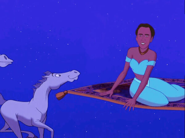 NICOLAS CAGE AS DISNEY PRINCESSES 8