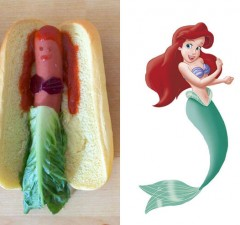 disney princess as hot dogs 1