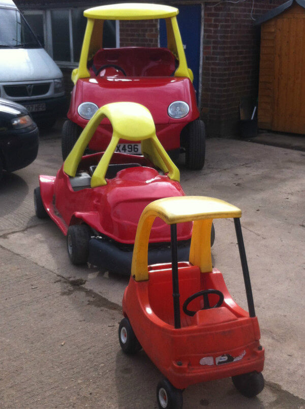 Buy your very own adult sized little tikes car at ebay for Little tikes motorized vehicles