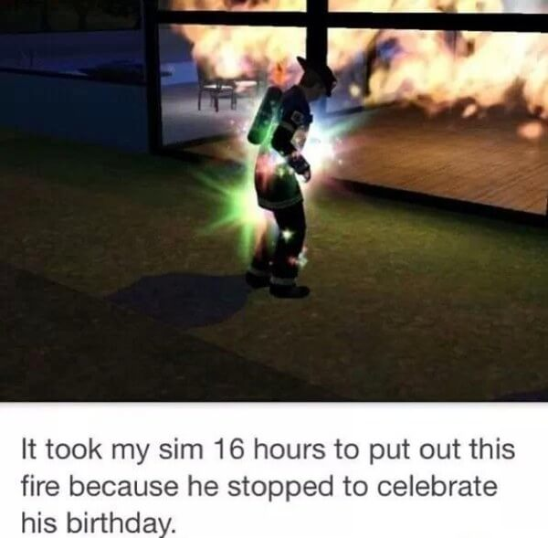 sims is hilarious 1