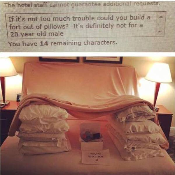 hilarious hotel requests 1