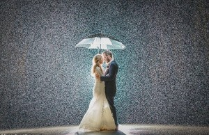 stunning rainy wedding photos 1