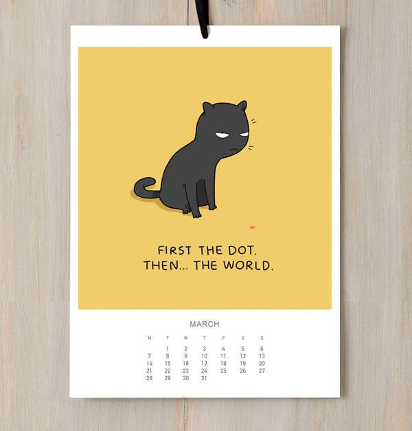 Calendar cat 1