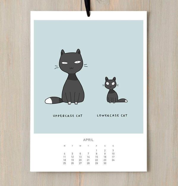 Cat calendar 1