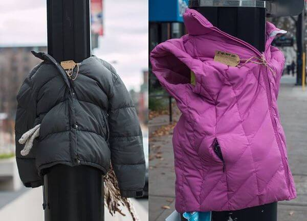 Jackets for the homeless 1