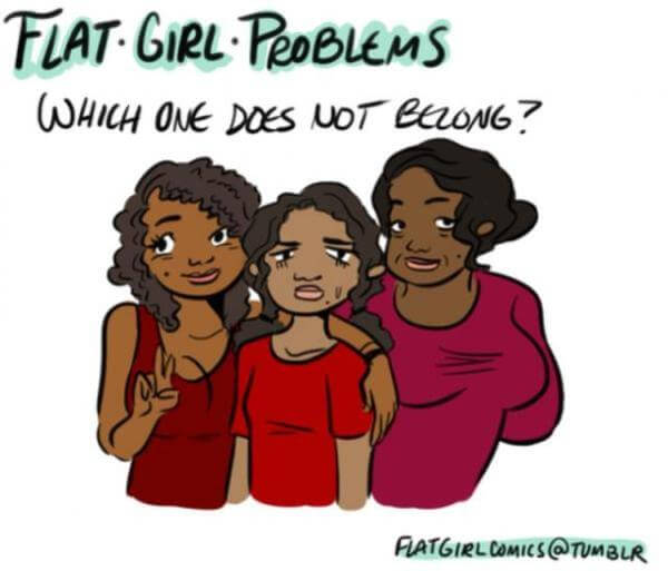 flat girl problems 11