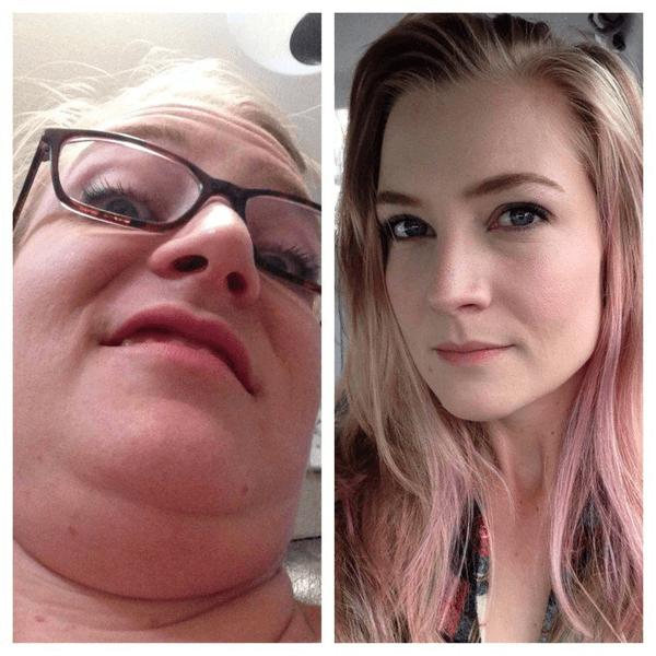 pretty girls making strange faces 3