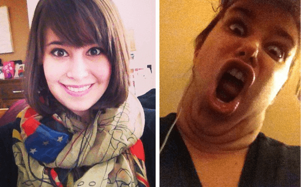 pretty girls making funny faces 18