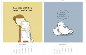 calendar cat feat