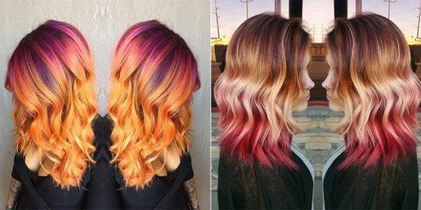 dyeing hair sunset 1