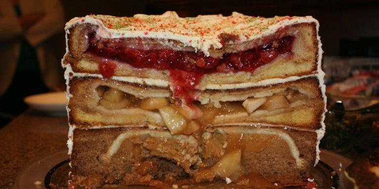 pie inside a cake recipe