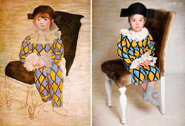Children With Down Syndrome Recreate Famous Paintings 13