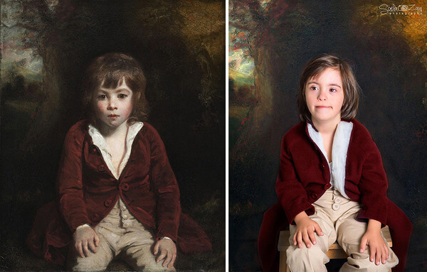 Children With Down Syndrome Recreate Famous Paintings 14