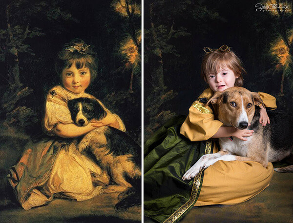 Children With Down Syndrome Recreate Famous Paintings 5