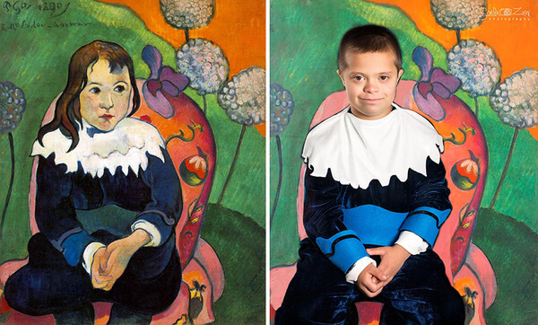 Children With Down Syndrome Recreate Famous Paintings 17