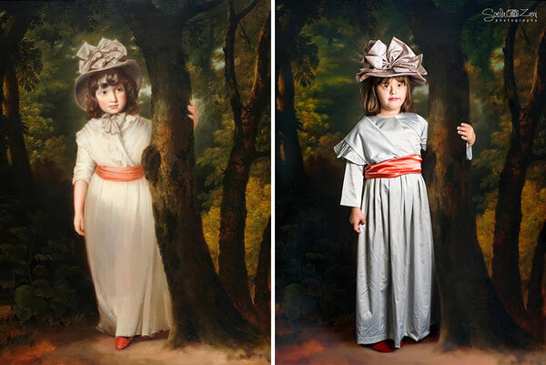 Children With Down Syndrome Recreate Famous Paintings 18