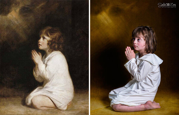 Children With Down Syndrome Recreate Famous Paintings 8