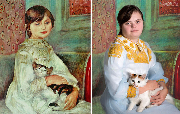 Children With Down Syndrome Recreate Famous Paintings 6