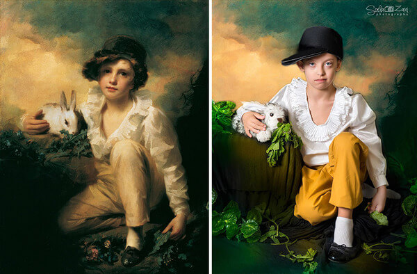Children With Down Syndrome Recreate Famous Paintings 11