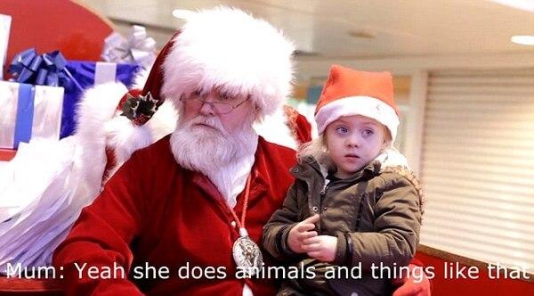 Santa Using Sign Language 3